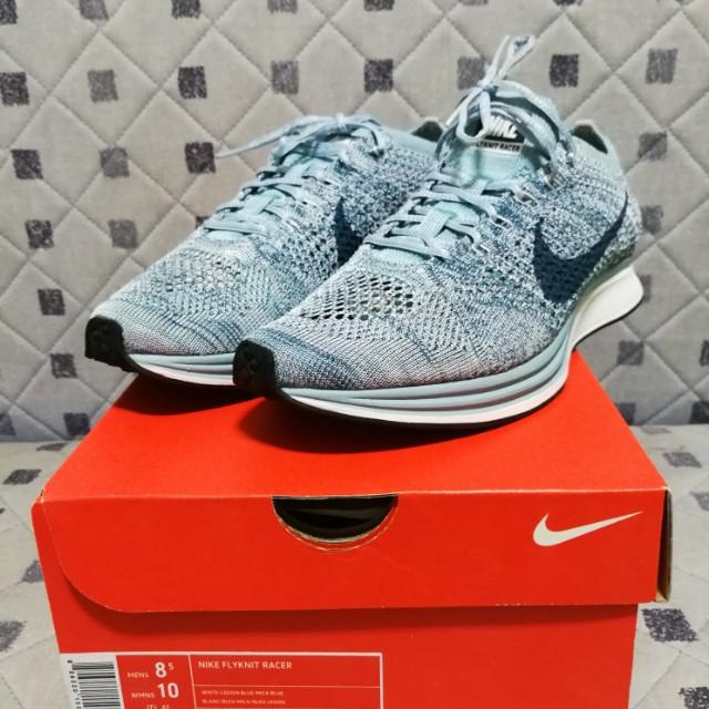 b995c9701a4 US8.5) Nike Flyknit Racer Blueberry