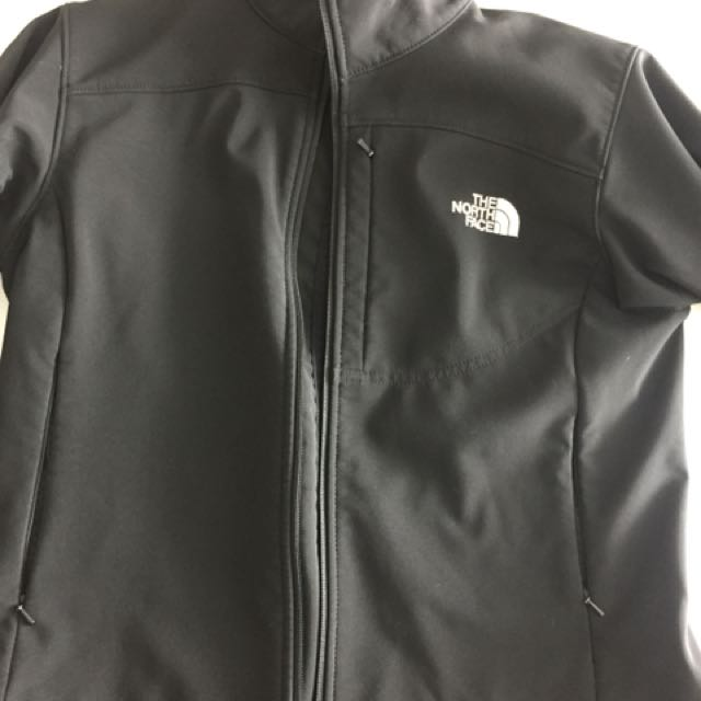North face black shell jacket