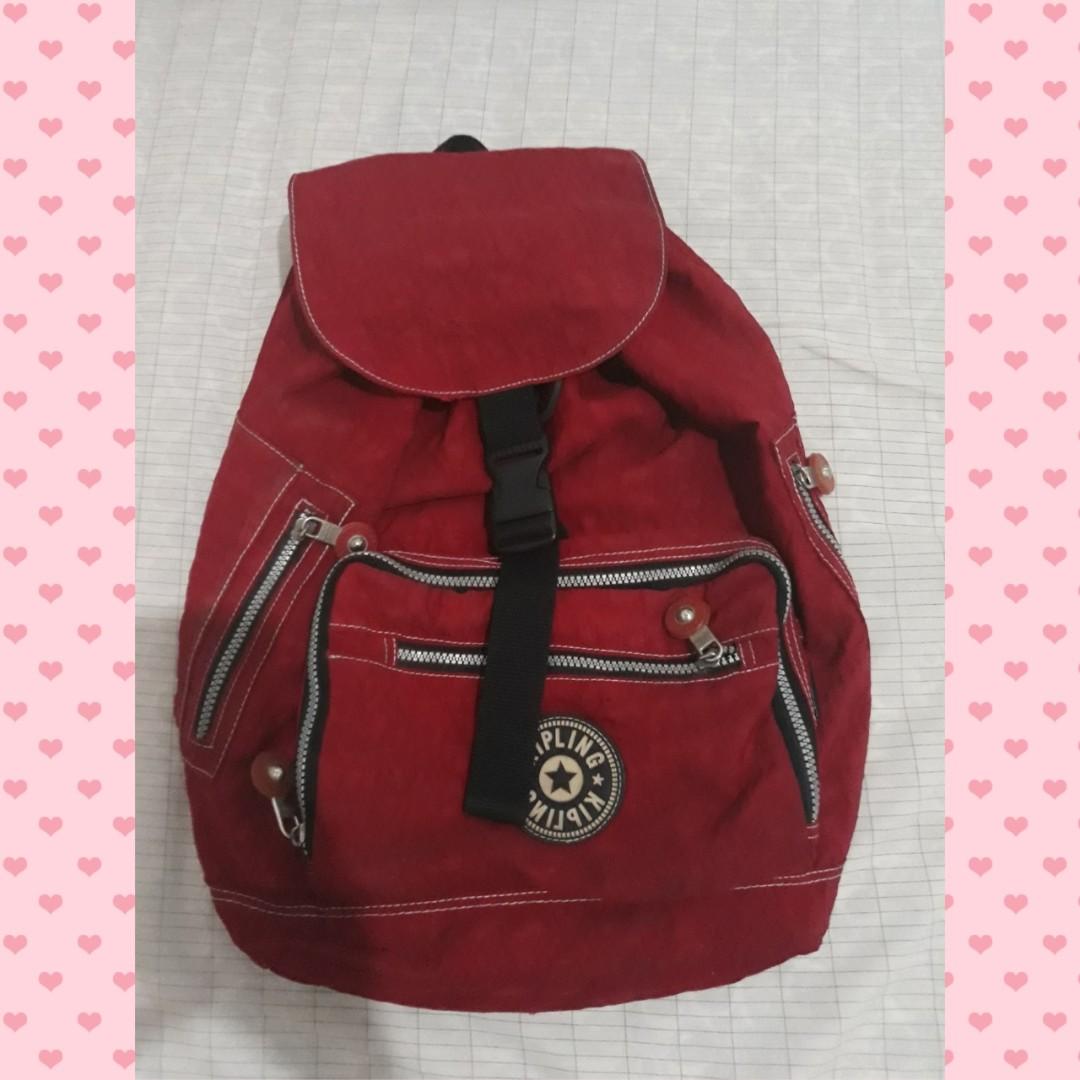 Premium Kipling Red Backpack