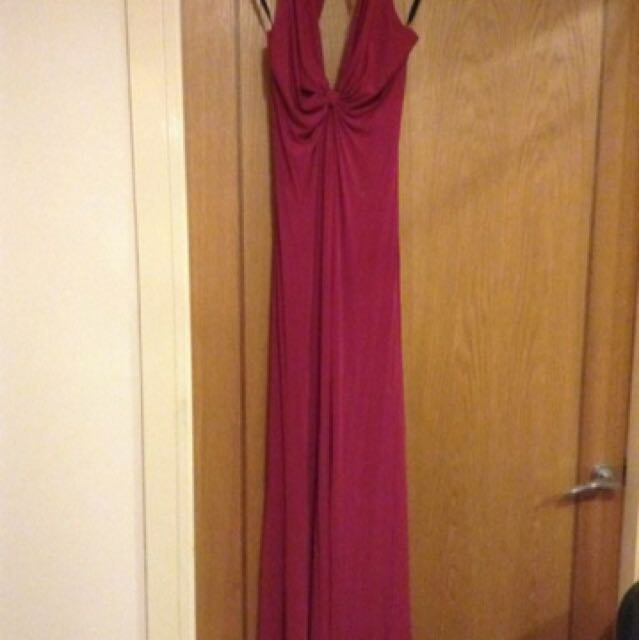 Plum floor length gown (will fit size 8-10)