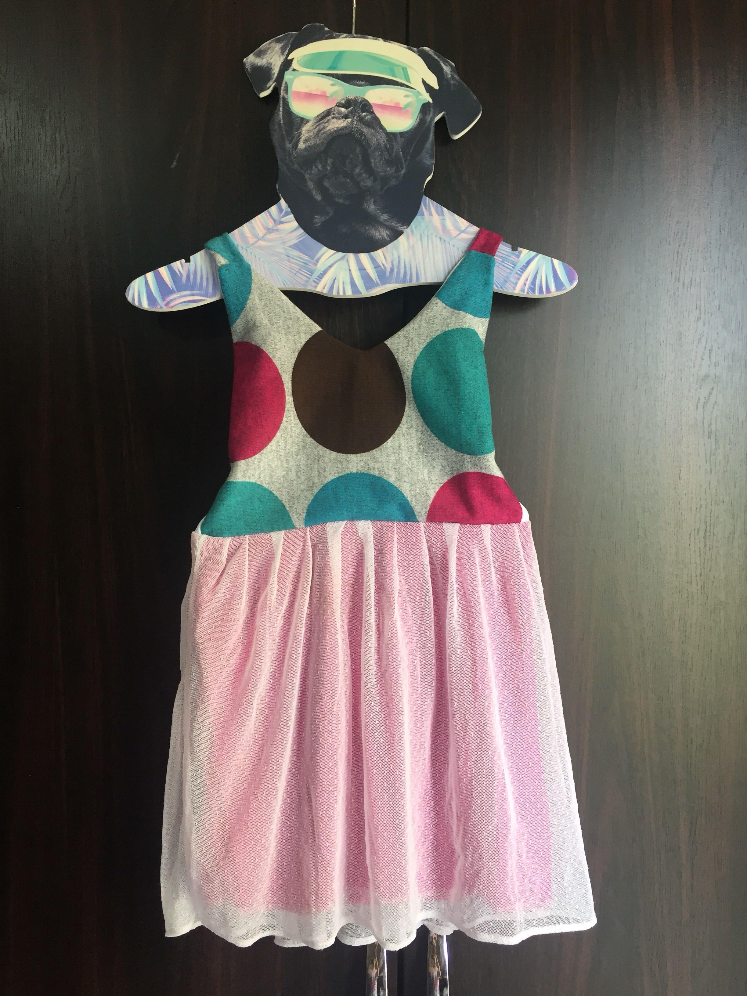 Polka Dots Pink Mini Dress