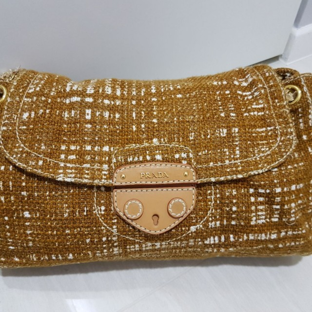 80b368cac3a8 Prada Tweed Bag