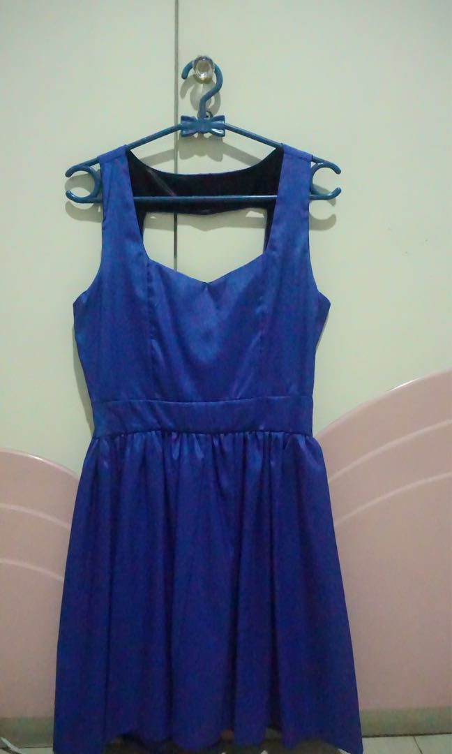 Preloved Simple Blue Dress
