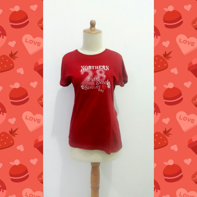 #barteryuk Red T-Shirt By Gallop Girl