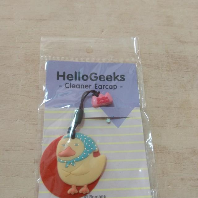 Romane  森林家族 Hello Geeks 手機耳機塞 防塵塞 鴨子 吊飾