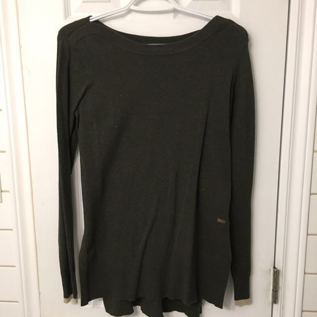 Roots green cabin long sleeve with slit