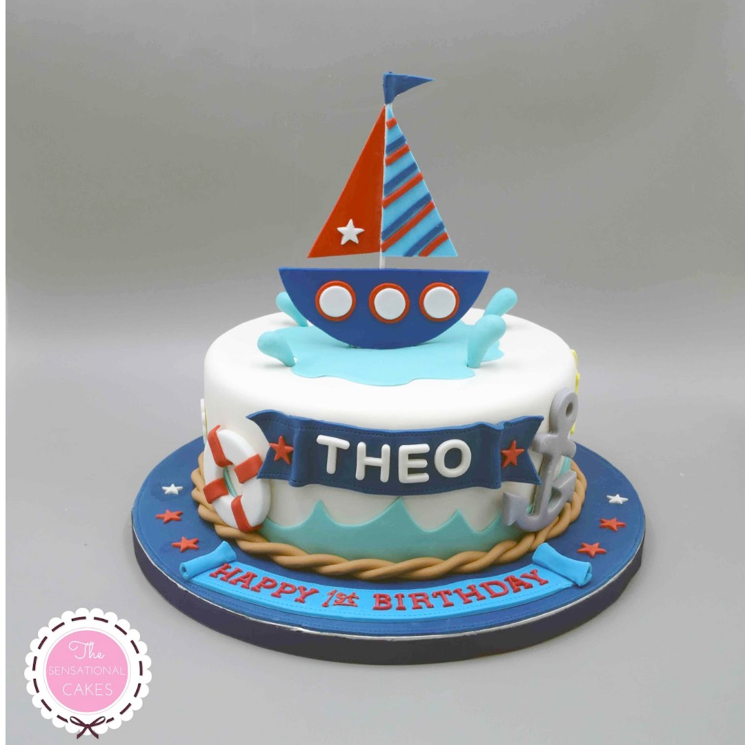 Super Sailor Theme 3D Concept Birthday Cake Singapore Nautical Theme Personalised Birthday Cards Sponlily Jamesorg