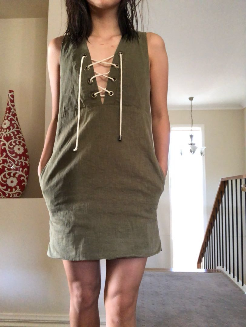 Sincerely Jules khaki dress