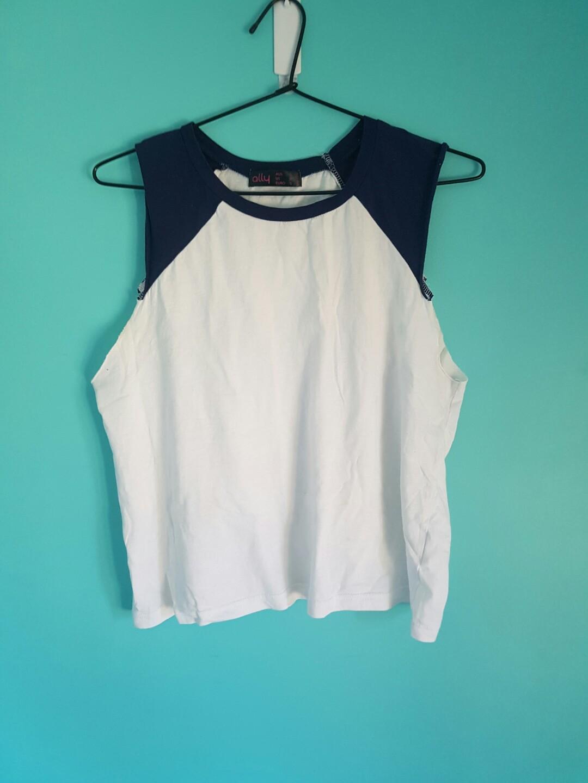 Sleeveless Shirts (white/blue, grey, wine)