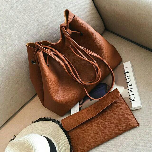 Trendy Korean 2in1 Fashion Bag Large