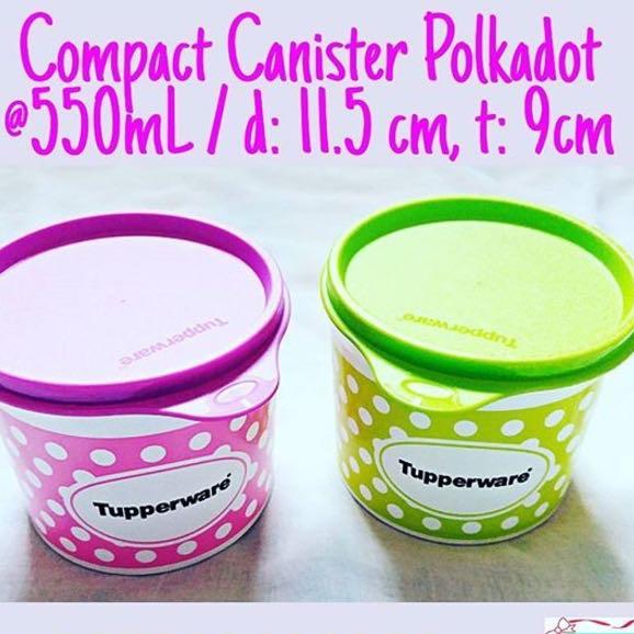 Tupperware Polkadot Cannister