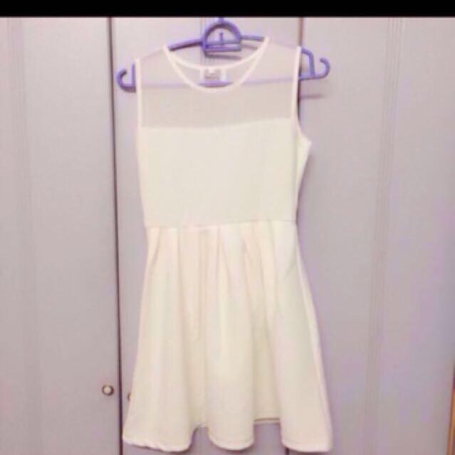 Twenty three white Mesh dress