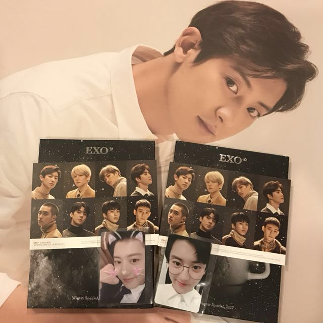 UPDATED EXO Chanyeol Set: Universe Album Photocards & Poster Set
