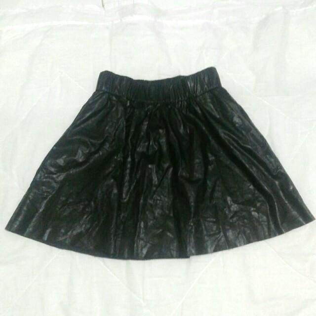 Veromoda Leather Skirt