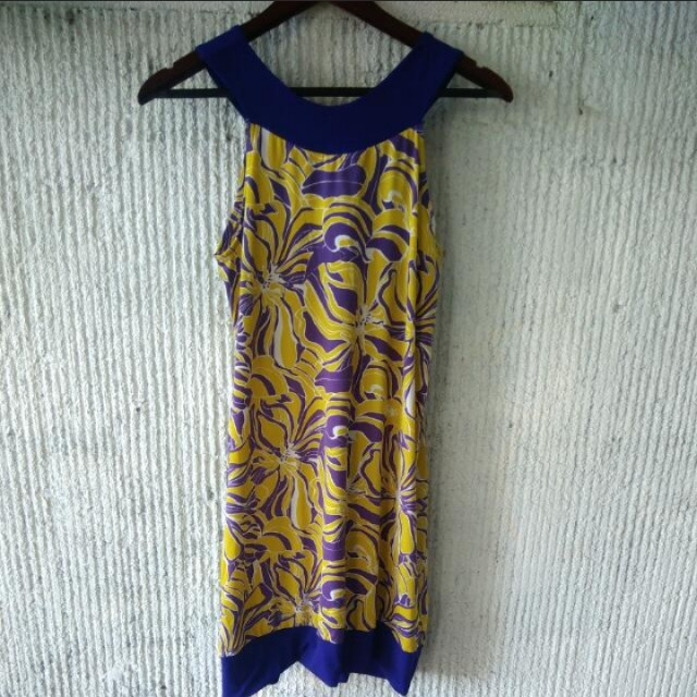 Violet and Yellow Dress