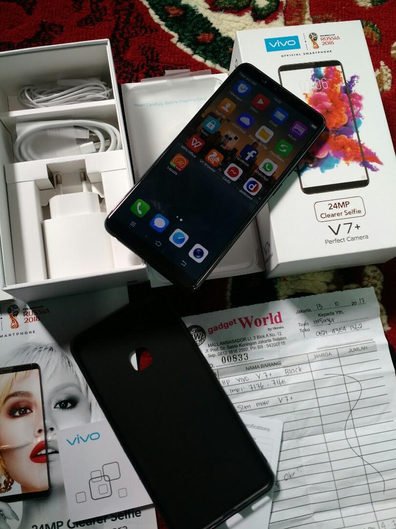 Vivo V7 Plus Black 4/64GB FullDisplay Mulus Fulset Istimewa, Mobile