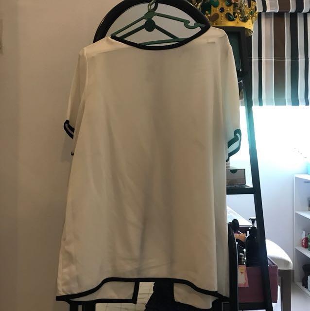 White back slit
