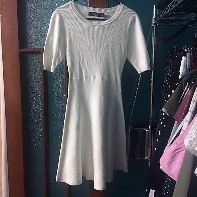 White Knit Slater Dress