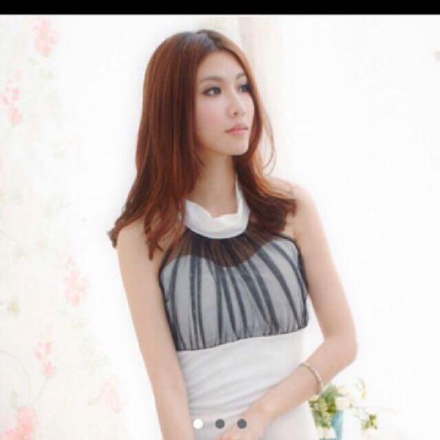 ❤️White Mesh Bodycon Dress