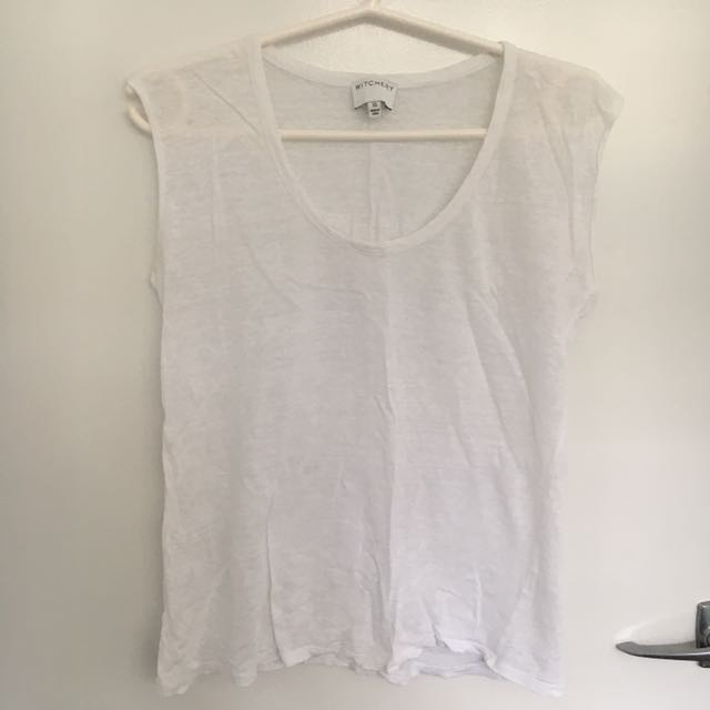 Witchery Sheer White Top