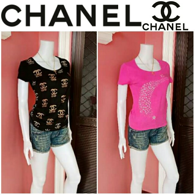 -Yunik- Authentic Chanel Tees - Bundle