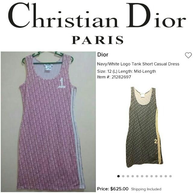 -Yunik- Authentic Christian Dior Paris Monogram Print Trotter Dress Diorissiomo