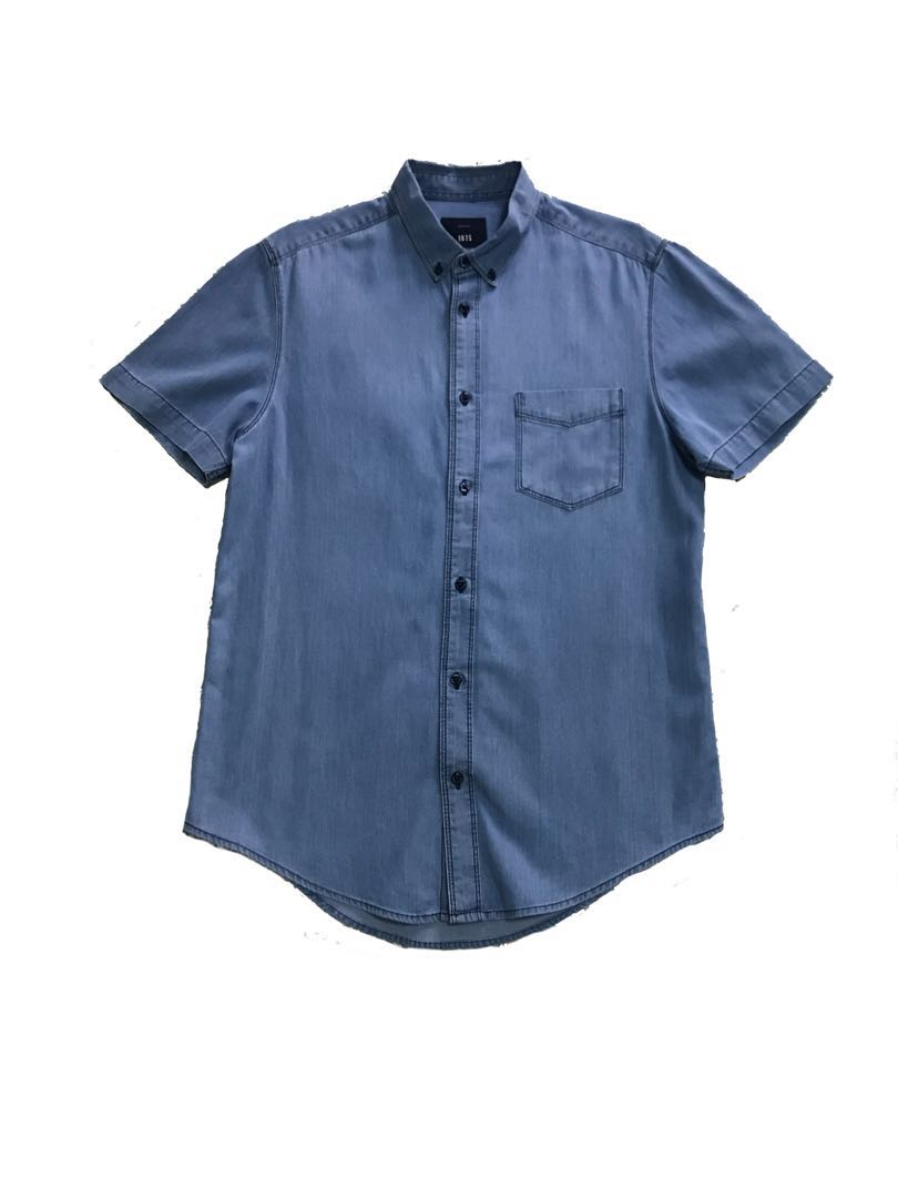 Zara Man Denim Polo Shirt