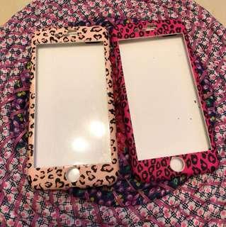 豹紋iphone 7 plus 全包電話殼