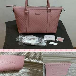 全新pink Gucci handbag