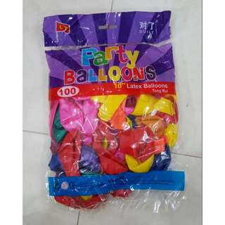 Assorted Color Balloons - 100pcs/pkt