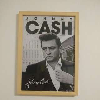 Johnny Cash Poster A3 with frame