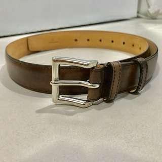 [Classic] John Lobb Patina Brown Leather Belt