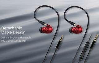 FiiO F9 (2BA+Dynamic Hybrid Earphones)