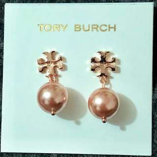 Tory Burch Pearl Earrings Rose Gold 玫瑰金吊珍珠耳環
