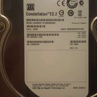 3TB Seagate Hard Disk Constellation ES.32