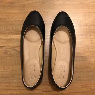 Posh Pocket Shoes Black Flats
