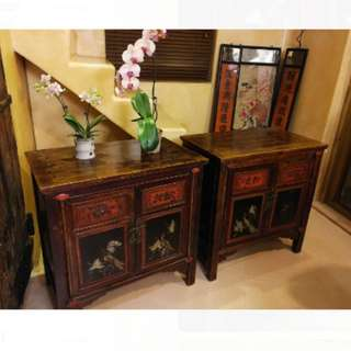 特色中式手繪雕花老柜每個1800