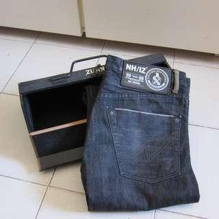 90%New(199面交/順豐)限量Neighborhood x Izzue Black Denim Jeans黑牛仔褲