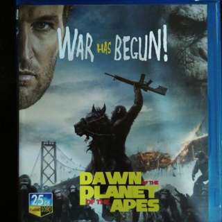 Dawn of the planet of the apes blue Ray movie