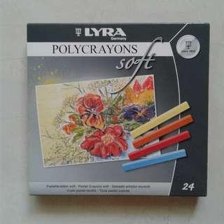 Soft ploycrayon Lyra 24 colors