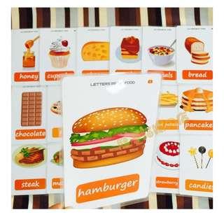 🙂 🌈FOOD🌈FLASH CARDS(36PCS)