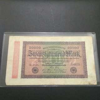 Reichs banknotes 20000