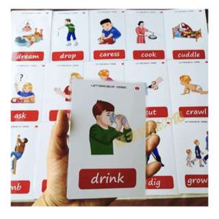 🙂 🌈VERBS🌈FLASH CARDS(56PCS)