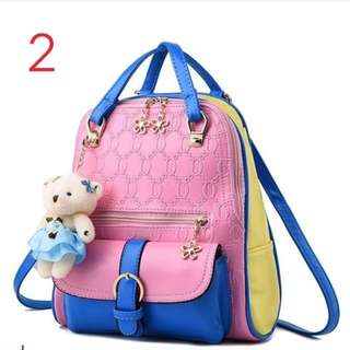 Cute Floral Zip Design Backpack