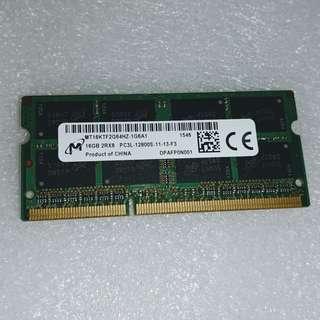 ThinkPad X250 可用(須預先自行更新BIOS) 16GB DDR3L 1600MHz SO-DIMM - micron MT16KTF2G64HZ-1G6A1