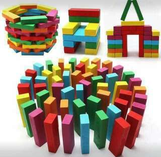 Learning jenga wooden stack high toys