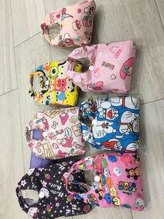 Recycle foldable bag - 35cm x 38cm x10cm ( different design different measurements by 1-2cm )