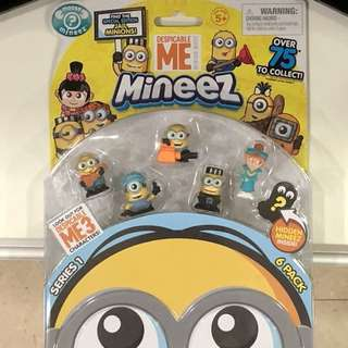 DESPICABLE ME Minion figurines toy (Pack of 6) - 1 hidden mineez inside