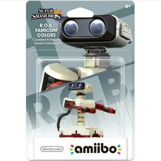 Nintendo Amiibo Super Smash Bros. Series Figure R. O. B Famicom Colors Wii U 3DS