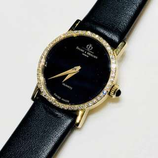 Baume & Mercier (18K Yellow Gold & Diamond bezel) Classic Lady Watch